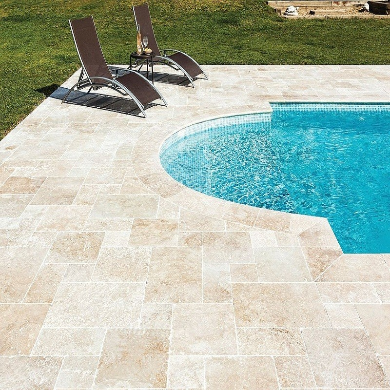 Carrelage bagnac en travertin 60 x 40 x 1 2 cm sol for Carrelage terrasse exterieur