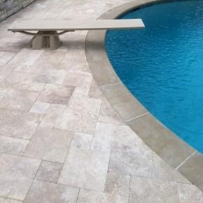 Pierre naturelle calcaire de travertin pour sol terrasse, extérieur