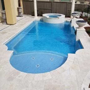 Carrelage tour de piscine