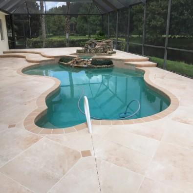 Dalle sur plot piscine