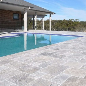 Carrelage Travertin Gris Silver