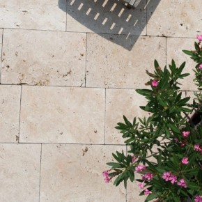 Travertin 40 x 60 en pierre naturelle pour sol extérieur
