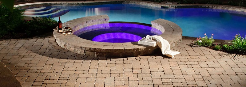 pavés autour piscine