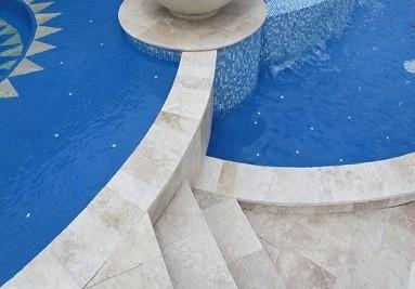 Travertin plage piscine